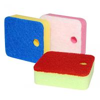 Набор губок для мытья посуды 3шт.9*8см с функцией put away
