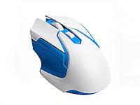 Беспроводная игровая оптическая мышь Wireless Gaming  Белый с синим