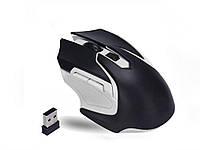 Беспроводная игровая оптическая мышь Wireless Gaming  Черный с белым