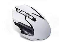 Беспроводная игровая оптическая мышь Wireless Gaming  Белый с черным