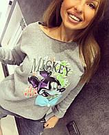 """Модный тепленький женский свитшот с рисунком """"Mickey Mouse"""" ТУРЦИЯ!"""
