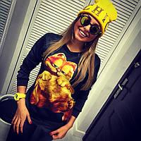 """Стильный модный свитшот с котом Гарфилдом """"Garfield"""" РАЗНЫе ЦВЕТА! ТУРЦИЯ!"""