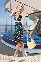 """Легкое летнее платье-сарафан """"Цветной горошек"""", пояс на завязке РАЗНЫЕ ЦВЕТА!"""
