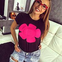 """Красивая, модная футболка """"Цветок Givenchy"""", декорирована тесненным принтом РАЗНЫЕ ЦВЕТА"""
