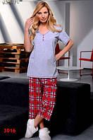 Пижама женская Dobra Nocka 3016 большие размеры (женская одежда для сна, дома и отдыха, домашняя одежда)