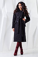 Красивое женское пальто черное В-983 Genziana