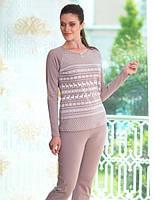 Модный женский комплект с брюками для дома и отдыха