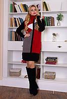 Зимнее женское вязаное платье Геометрия Modus 44-48 размеры