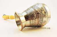 Медная турка  (джезва) для кофе  «Цветы», 500мл.