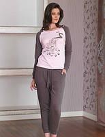 Пижама женская с брюками, костюм для дома