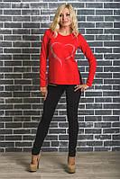 Модная женская туника красная, фото 1