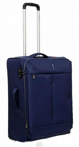 2-колесный тканевый легкий чемодан 74/87 л. Roncato IRONIC 5102/23 т. синий