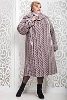 Пальто зимнее женское больших размеров в 10ти цветах П-524
