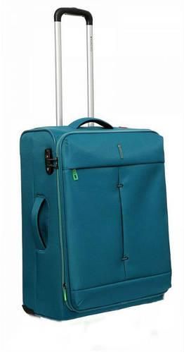 Изумрудный прочный 2-колесный чемодан, тканевый 74/87 л. Roncato IRONIC 5102/67