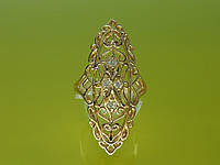 """Кольцо """"Виолетта"""" с устойчивым  покрытием золота и фианитами."""