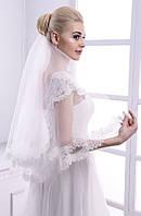 Свадебная кружевная фата с мягкого шантилье № 3