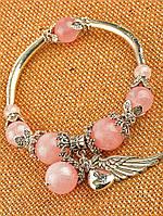 Браслет из розового кварца женский
