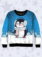 Детская толстовка Пингвин в наушниках