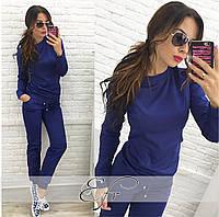 Модный синий  спортивный костюм. Арт-8664/70