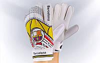 Перчатки вратарские BARCELONA (красный-желтый)