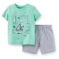 "Комплект на мальчика Carters шорты и майка  ""Кораблик"" 9мес12мес18мес"