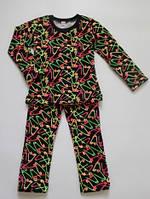 Детский теплый костюм для девочек, туника с лосинами, рост от 86 до 116 см