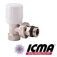 Угловой терморегулирующий вентиль с ручным и термостатическим управлением 1/2 Icma 974