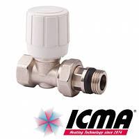 Прямой терморегулирующий вентиль с ручным и термостатическим управлением 3/4 Icma 975