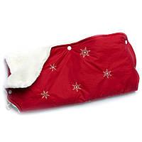 Муфта для коляски на овчине Модный карапуз красная