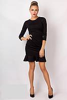 Женское   платье с  рюшами на юбке