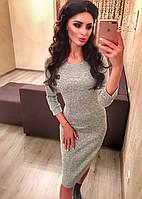 Женское теплое платье миди ангора
