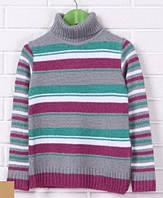 Вязаный свитер для девочки 122-134