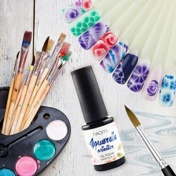 Как рисовать акварель гель лаком