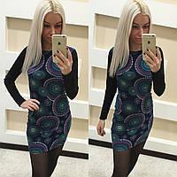 Красивое короткое женское платье