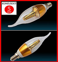 """Светодиодная лампа """"свеча на ветру""""  7W 25 LED E14 - 5шт"""