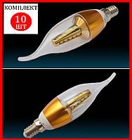 """Светодиодная лампа """"свеча на ветру""""7W 25 LED E14 - 10шт"""