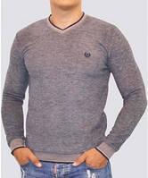 Мужской пуловер с V-образным вырезом, высокого качества