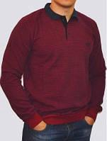 Мужской стильный свитер - поло в полоску, от производителя по выгодным ценам