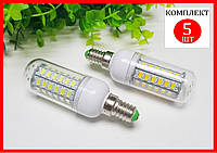 Светодиодная лампа кукуруза 12W 36 LED E14 - 5шт