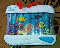 Большой фирменный музыкальный ночник аквариум Baby Einstein, США.