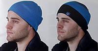 Двостороння мужская шапка яркая