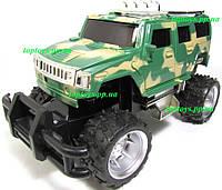 Машина на радиоуправлении Джип военный Hummer Хаммер, 17см, аккумулятор