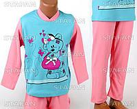 Детская пижама для девочки, интерлок Betul D04 2-3-R.