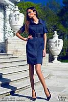 Короткое джинсовое платье с короткими рукавами