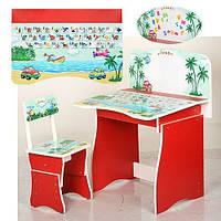 Детская регулируемая парта и стул (МV-902-3-3)