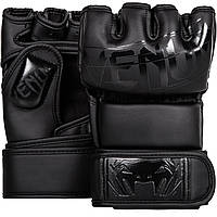 Перчатки для ММА Venum Undisputed 2.0 MMA Gloves - Skintex Leather - Mate Black (V-Undisputed 2.0-MB)