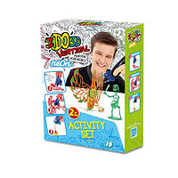 Набор для детского творчества с 3D-маркером - НЕОН (3D-маркер - 2 шт, шаблон, аксессуары). Арт. 155248
