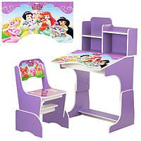 Детская регулируемая парта и стул (W 2071-8)