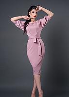 Платье модельное розовое