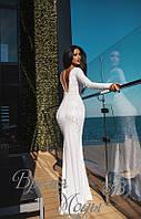 Белое вечернее платье в пол. 7 цветов.